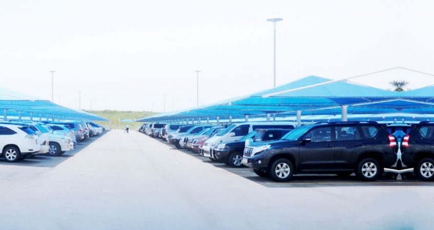 Entebbe-International-Airport-Uganda-car-parking