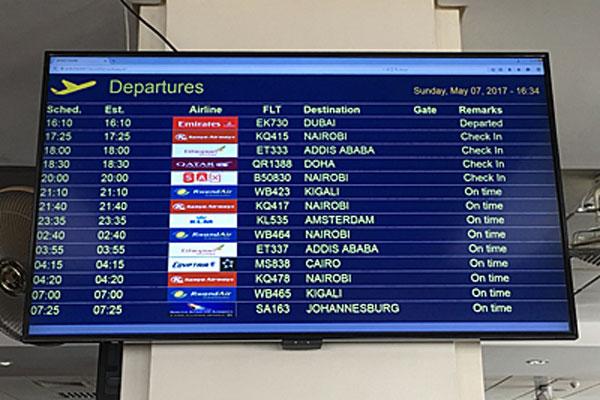 Flight-Information-Display-boards-at-Entebbe-International-Airport