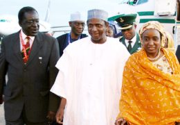 Nigerian-President-and-First-Lady-at-Entebbe-International-Airport