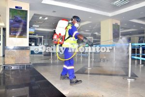 Entebbe Airport undergoes 30-day disinfection exercise